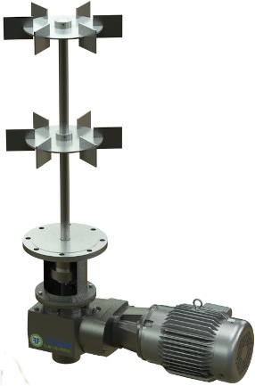 Small to large scale, premium right angle, 3-4 stage helical/bevel gearing, custom configured drives. Gear ratios from 10 RPM to 220 RPM, power from 1/3HP-200HP, cast iron frame.