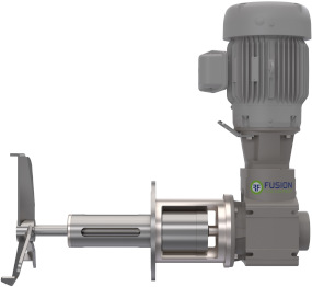 Almost any Fusion side entry mixer can be designed as magnetically driven.  Bearing frame in-tank required to support shaft. Speeds from 175RPM to 480 RPM, power from 1/3HP-250HP