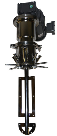 Almost any Fusion top entry mixer can be designed as magnetically driven.  Bearing frame below mount required to support shaft. Speeds from 10RPM to 1750 RPM, power from 1/3HP-250HP