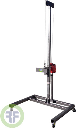 Completely customizable, fixed or mobile, steel frame with UHMW guide bushings, pneumatic, electric, or manual lift.